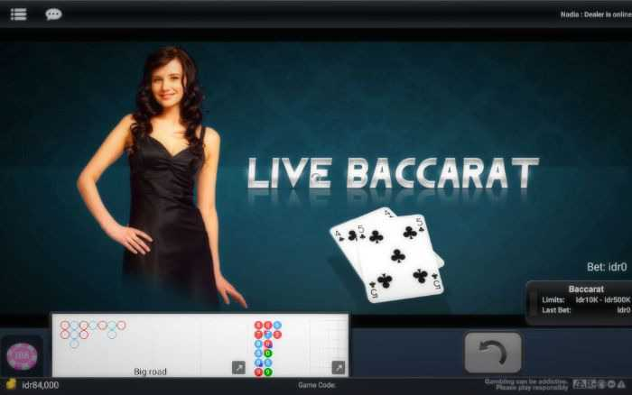 Live dealer baccarat like in real casino
